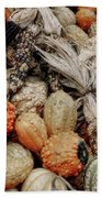 Autumn Gourds 2 Beach Sheet