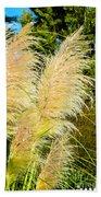 Autumn Grass Beach Towel