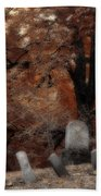 Autumn Graveyard Beach Towel