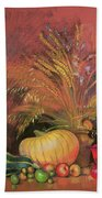 Autumn Harvest Beach Towel by Claire Spencer