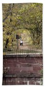 Autumn Hike On The C And O Canal Towpath At Seneca Creek Beach Towel