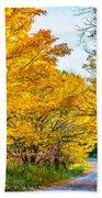 Autumn Hike - Paint Beach Towel