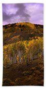 Autumn Hillside Beach Towel