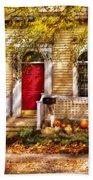 Autumn - House - A Hint Of Autumn  Beach Towel