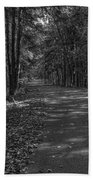 Autumn In Black And White Beach Towel