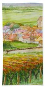 Autumn In Epernay In The Champagne Region Of France Beach Towel