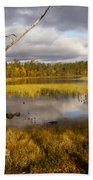 Autumn In Finland Near Inari Beach Towel