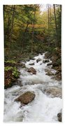 Franconia Notch In Autumn  Beach Towel