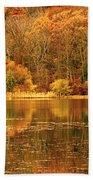 Autumn In Mirror Lake Beach Towel