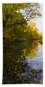 Autumn In Morrisville Pa Along The Delaware Canal Beach Towel