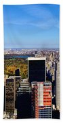 Autumn In New York City Beach Towel