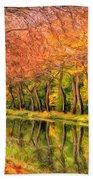 Autumn In Provence Beach Towel
