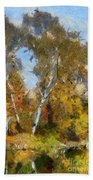 Autumn In The Marshes Beach Towel