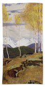 Autumn In The Mountains Beach Towel by Adrian Scott Stokes