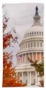 Autumn In The Us Capitol Beach Towel