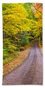 Autumn Journey Beach Towel
