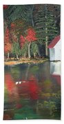 Autumn - Lake - Reflecton Beach Towel