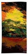 Autumn Landscape Beach Sheet