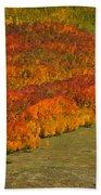 Autumn Lava Flow Beach Towel