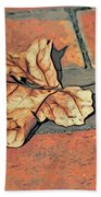 Autumn Leaf Beach Towel