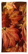 Autumn Leaves 00 Beach Towel