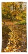 Autumn Leaves In Burn Vertical Beach Towel