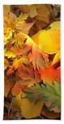 Autumn Masquerade Beach Towel by Martin Howard