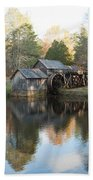 Autumn Morning At Mabry Mill Beach Towel