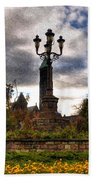 Autumn Morning At Symphony Circle V2 Beach Towel