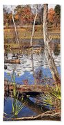Autumn Morning At The Marsh Beach Towel