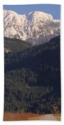 Autumn Snowcapped Mountain - Golden Ears - British Columbia Beach Towel