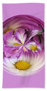 Autumn Mum Orb Abstract Beach Towel