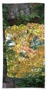 Autumn Naturally Framed Beach Towel