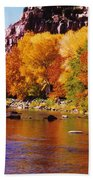 Autumn Oak Creek  Beach Towel