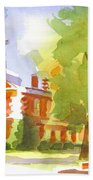 Autumn Observations Watercolor Beach Towel