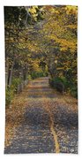 Autumn On Bike Trail  Beach Towel