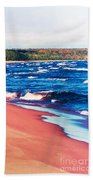Autumn On Lake Superior Beach Towel