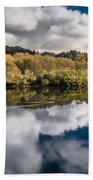 Autumn On The Klamath 11 Beach Towel