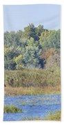 Autumn On The Marsh Beach Towel