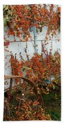 Autumn On The Wagon Beach Towel