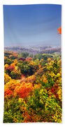 Autumn Over The Rolling Hills Beach Towel