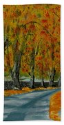 Autumn Pathway Beach Towel
