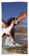 Autumn Pegasus Beach Towel