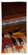 Autumn Piano 1 Beach Towel