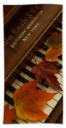 Autumn Piano 11 Beach Towel