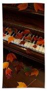 Autumn Piano 7 Beach Towel
