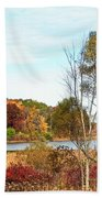 Mendon Ponds In Autumn Beach Towel