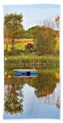 Autumn Pond Beach Sheet