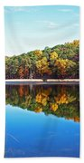 Autumn Reflection Beach Towel