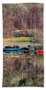 Autumn Reflections Beach Towel by Adrian Evans